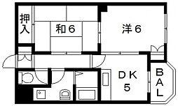 ロイヤル池田[206号室号室]の間取り