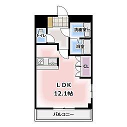 ル'シェル岩倉III[1階]の間取り