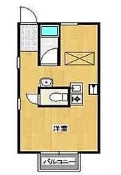 JR五日市線 東秋留駅 徒歩18分の賃貸マンション 1階ワンルームの間取り