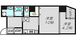 G−style TENMABASHI[11階]の間取り