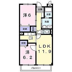 ハミングホーム五香西[103号室]の間取り