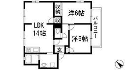 クリーン中野東A[1階]の間取り