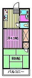 埼玉県さいたま市浦和区瀬ヶ崎1丁目の賃貸アパートの間取り