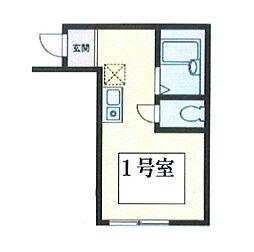 リアルフィールド阪東橋[301号室]の間取り
