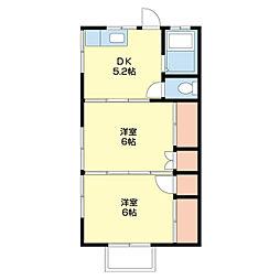 紅葉荘 西[2階]の間取り