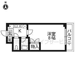 アール四条大宮[5階]の間取り