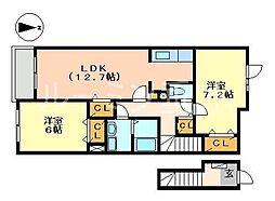 クラッセ壱番館[2階]の間取り