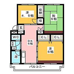 総和ハイツ12[2階]の間取り