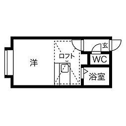 YTS41[3階]の間取り