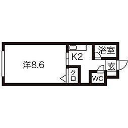 N20マンション[1階]の間取り