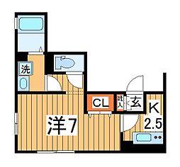 仮)D-roomTV柏[201号室]の間取り