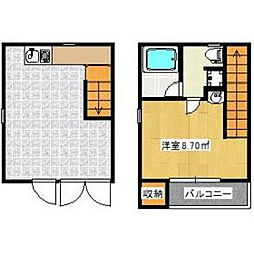 福岡県久留米市津福本町の賃貸アパートの間取り
