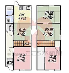堺市東区西野戸建 1階5Kの間取り
