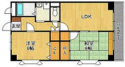 KM2夙川[1階]の間取り