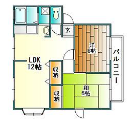 サンビレッジコニシ D棟[2階]の間取り
