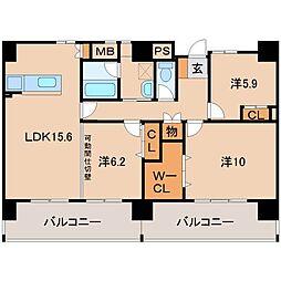 HIRATA NORTH[6階]の間取り