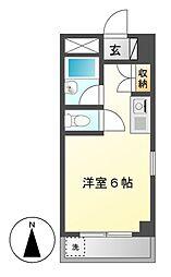 愛知県名古屋市中村区押木田町2の賃貸マンションの間取り