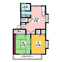 タマパレス[2階]の間取り