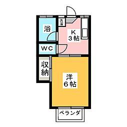シタラハイツ[2階]の間取り