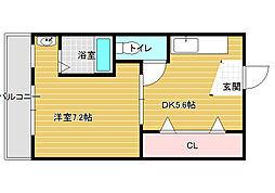 ヴィラナリー富田林1号棟[-1階]の間取り