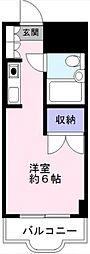 ロザール松戸[402号室号室]の間取り