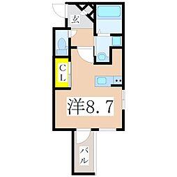 鹿児島県鹿児島市鴨池2丁目の賃貸マンションの間取り