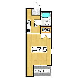 ハウスオブローゼ[205号室]の間取り