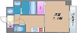 メビウス タマツクリ レジデンスII 5階1Kの間取り