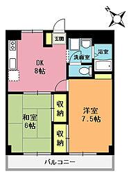 大塚第1ビル[202号室]の間取り
