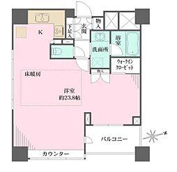 東京メトロ有楽町線 江戸川橋駅 徒歩2分の賃貸マンション 3階ワンルームの間取り