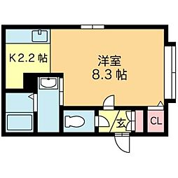 北海道札幌市北区あいの里三条2丁目の賃貸アパートの間取り
