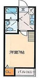 東京都足立区興野1丁目の賃貸アパートの間取り