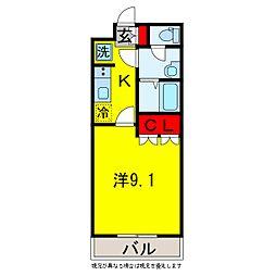 ブライトヒル辰巳[2階]の間取り