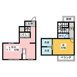 Wood久松 II[1階]の間取り