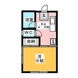 花菜ハイツ[2階]の間取り