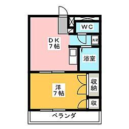 パレス尾野 II[2階]の間取り