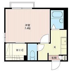 Cube A[2階]の間取り