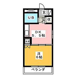 ラポール横割[1階]の間取り