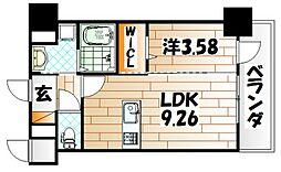 TEH HILLS KOKURA[2階]の間取り