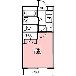 安田学研会館 東棟[209号室]の間取り