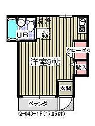 千葉県市川市香取2の賃貸アパートの間取り