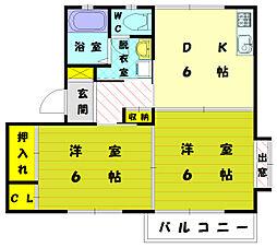 ディアス新宮[1階]の間取り