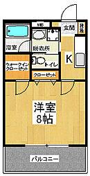 桑川MOD[2階]の間取り