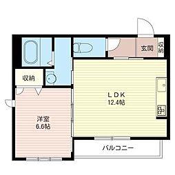プリムローズ経堂[1階]の間取り