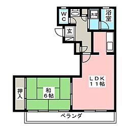 ロイヤルヒルズ台原I[4階]の間取り