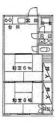 田中アパート[105、201号室]の間取り