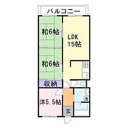 藤和東加古川ハイタウンA[416号室]の間取り