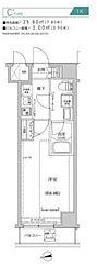 都営新宿線 住吉駅 徒歩10分の賃貸マンション 5階1Kの間取り