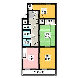 カーサブルーノ[3階]の間取り