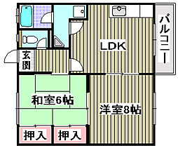 大阪府和泉市王子町3丁目の賃貸アパートの間取り